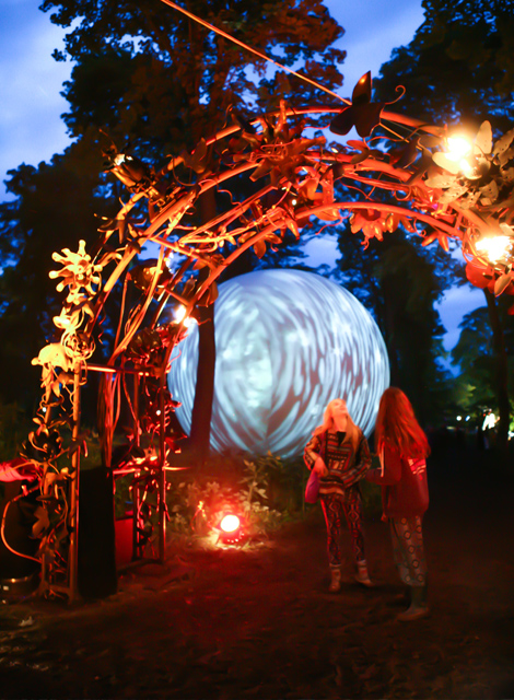 Art in the forest at a festival – surreal, sublime, sensory