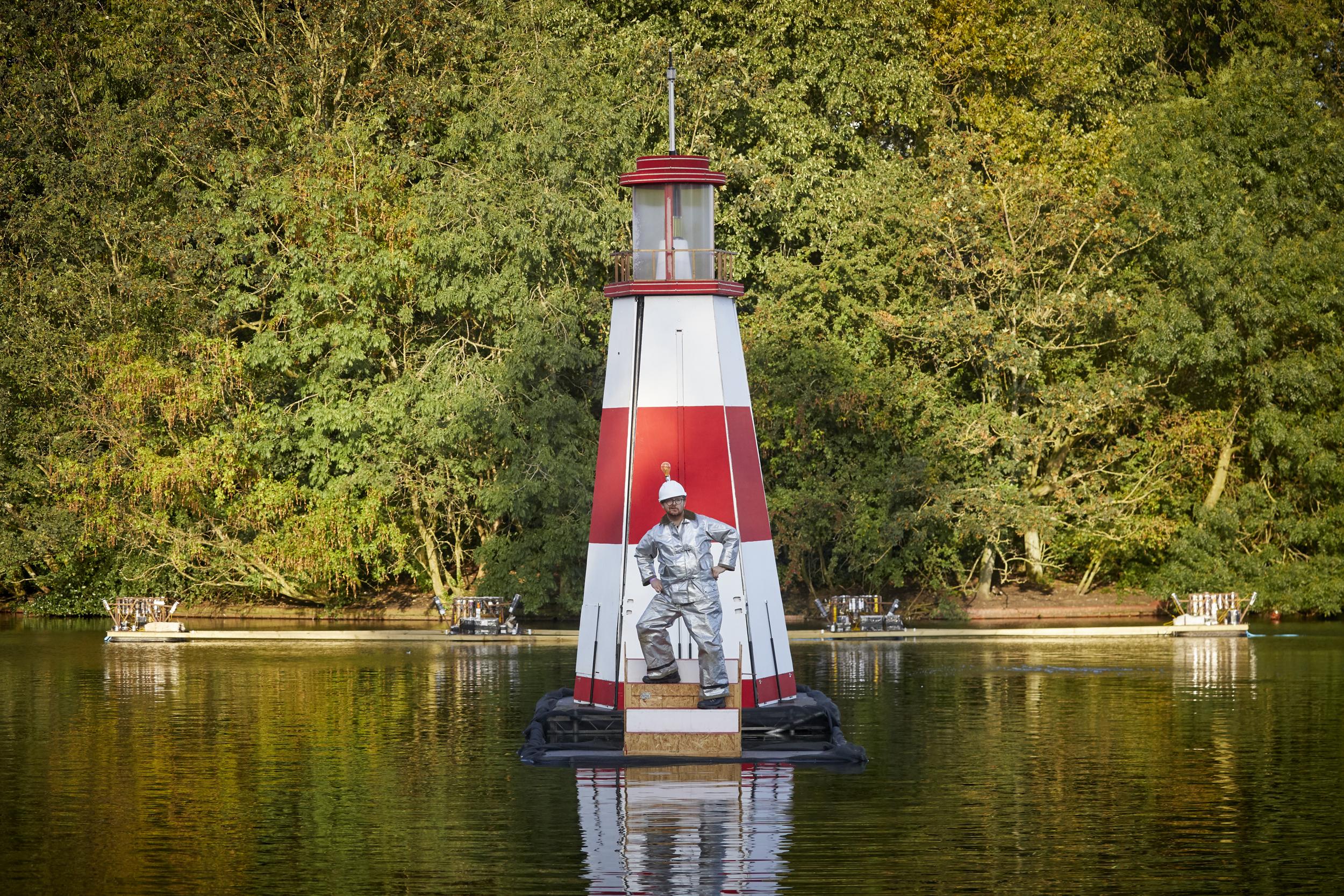 The second annual Festival of Manchester in Platt Fields Park Walk the plank lighthouse